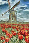 Dancin Artworks - Windmill and Tulips
