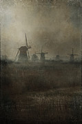 Old Mills Framed Prints - Windmills Framed Print by Joana Kruse