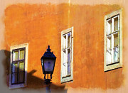 Charming Town Paintings - Windows and lamp by Odon Czintos