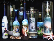 Decanters Art - Wine Bottle Crafts by Kris Crollard
