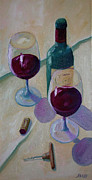 Impressionistic Wine Framed Prints - Wine Bottle Still Life  Framed Print by Todd Bandy