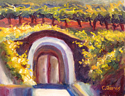 Winery Paintings - Wine Cave by Carolyn Jarvis