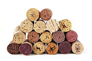 Wine Cork Prints - Wine corks Print by Elena Elisseeva