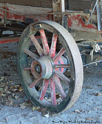 Barbara Snyder Prints - Wine Wagon Wheel Print by Barbara Snyder
