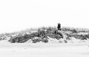 Engagement Prints - Winter Beach Proposal Print by Vicki Jauron