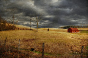 Red Barns Photos - Winter Begins by Lois Bryan