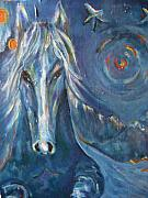 Chaline Ouellet - Winter Blue Horse