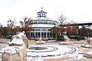 Weathervane Photo Prints - Winter in Coolidge Park Print by Tom and Pat Cory