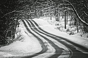 Winter Roads Prints - Winter Journey Print by Sara Frank