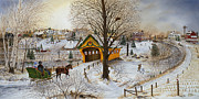 Snow-covered Landscape Painting Posters - Winter Memories Poster by Doug Kreuger