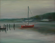 Winter On The Navesink Print by Desiree  Rose