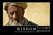 Qalat Posters - Wisdom Inspirational Quote Poster by Stocktrek Images