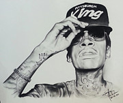 Dallas Drawings - Wiz Khalifa by Joaquin Hernandez