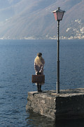 Cap Framed Prints - Woman On Jetty Framed Print by Joana Kruse