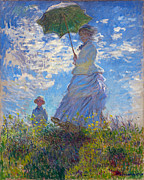 Claude Monet - Woman with a Parasol Madame Monet and Her Son by Claude Monet