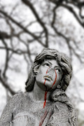 Forgive Prints - Woman with Blood Tears St Louis Missouri Print by John Hanou