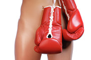 Adult Posters - Woman with Boxing Gloves Poster by Oleksiy Maksymenko