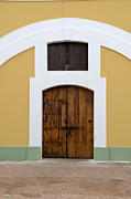 Castillo San Cristobal Posters - Wooden Door at El Morro Historical Site Poster by Birgit Tyrrell