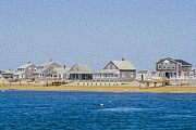 Chatham Digital Art Prints - Wooden houses on Cape Cod Print by Patricia Hofmeester