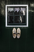 Rustic Metal Prints - Wooden Shoes Metal Print by Joana Kruse