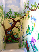Preschool Wall Mural Art - Woodland Creatures Mural - 1 by Hanne Lore Koehler