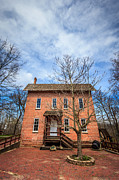 Brick Building Art - Woods Grist Mill in Deep River County Park by Paul Velgos