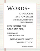 Notebook Posters - Words Poster by Marianne Beukema