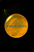 Framed Print Mixed Media Posters - World Peace Poster by Gerlinde Keating - Keating Associates Inc