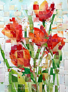 Floral Artist Framed Prints - Woven Tulips Framed Print by Suzy Pal Powell