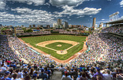 Chicago Cubs Field Framed Prints - Wrigley Field Framed Print by Steve Sturgill