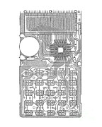 X-ray Of Calculator Print by Bert Myers