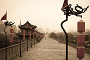 Shaanxi Prints - XiAn City Wall China Print by Fototrav Print