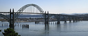 Bay Bridge Photos - Yaquina Bay Bridge - Newport Oregon by Daniel Hagerman