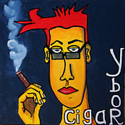 Cigars Paintings - Ybor and Cigars by Vickie Scarlett-Fisher