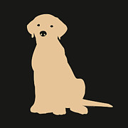 Black Lab Digital Art - Yellow Labrador by Elizabeth Harshman