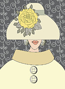 Mira Dimitrijevic - Yellow Peony Flower Hat