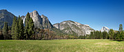 Half Dome Prints - Yosemite Meadow panorama Print by Jane Rix