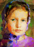 Frame House Digital Art Prints - Young Lady Portrait Print by Yury Malkov