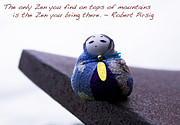 Poem Prints - Zen on Tops of Mountains Print by Sharon Cummings