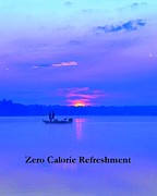 Card Framed Prints - Zero Calorie Refreshment Framed Print by Terri Gostola