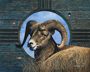 Mountain Goat Paintings - Zia Ram by Ricardo Chavez-Mendez