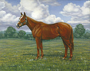 Thoroughbred Gelding Prints - Ziggy Print by Richard De Wolfe