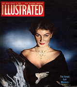 Jewellery Prints - 1950s Uk Illustrated Magazine Cover Print by The Advertising Archives