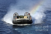 Featured Art - A Landing Craft Air Cushion Transits by Stocktrek Images