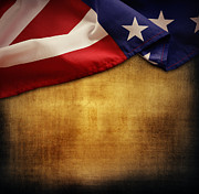 Stars And Stripes Photo Posters - American flag Poster by Les Cunliffe