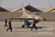 Featured Acrylic Prints - An F-16a Netz Of The Israeli Air Force Acrylic Print by Ofer Zidon