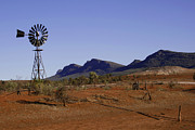 Waterpump Posters - Australian Outback Poster by John Wallace