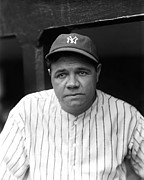 Babe Ruth New York Yankees Print by Retro Images Archive