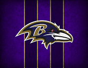 Ravens Metal Prints - Baltimore Ravens Metal Print by Joe Hamilton