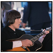 Beatles Metal Prints - Beatles HELP George Harrison Metal Print by Emilio Lari